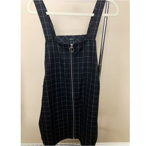 Forever 21 Zip Front Grid Dress BNWT